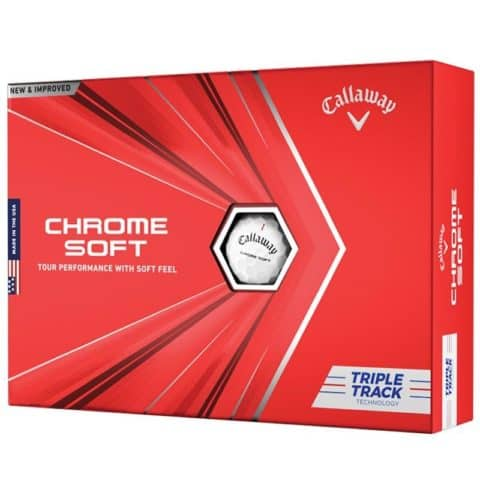Callaway Chrome Soft Triple Track White Golf Balls