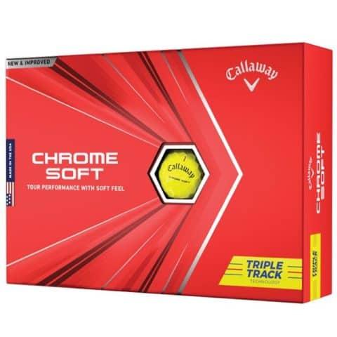 Callaway Chrome Soft Triple Track Yellow Golf Balls