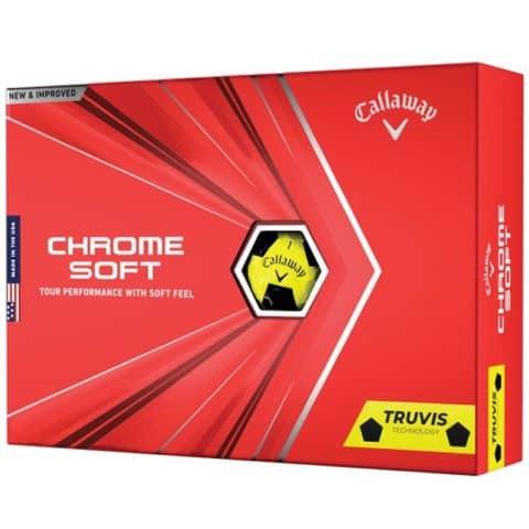 Callaway Chrome Soft Truvis Yellow Golf Balls