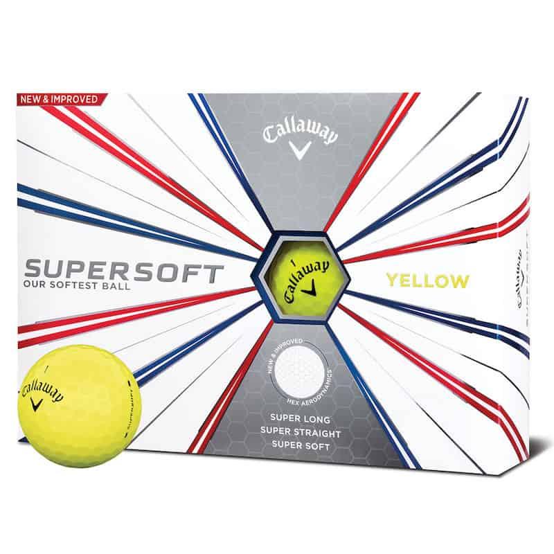 Callaway Supersoft Yellow Golf Balls