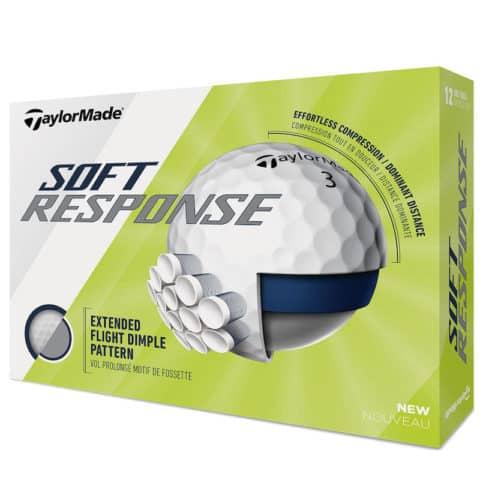 TaylorMade Soft Response White Golf Balls