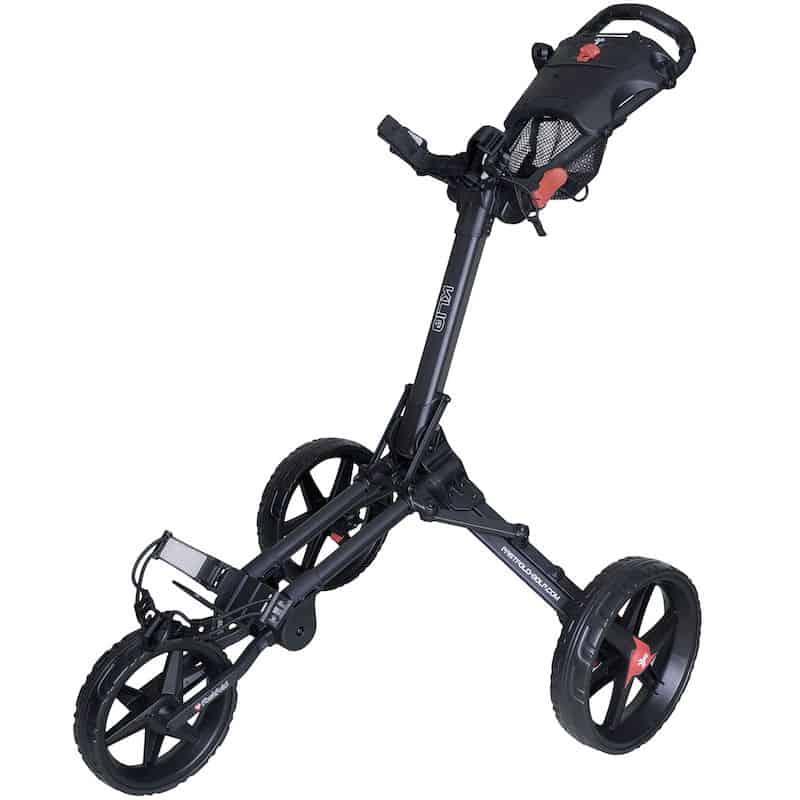 Fastfold Kliq 3-wheel Push Trolley Black